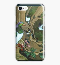 Pigeons, Parakeets and Fantails iPhone Case/Skin