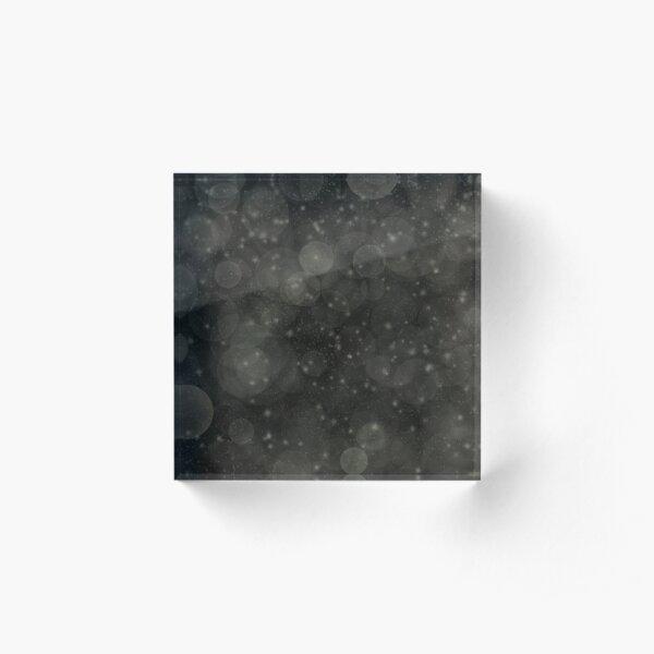 Black Abstract Bokeh Sparkles Acrylic Block