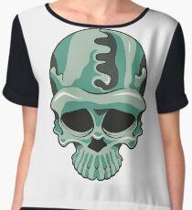 Camouflage Skull Women's Chiffon Top
