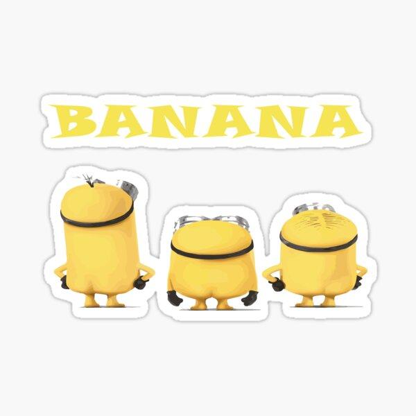 Naked Minions starren auf eine Banane, Naked Minion Shirt Geschenk, Unisex T-Shirt Sticker