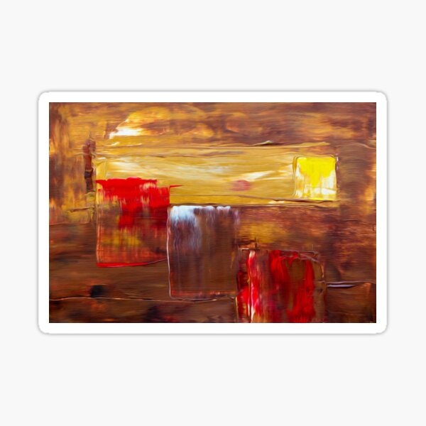 Colorful Art Painting Brown Wallpaper Creative  Sticker