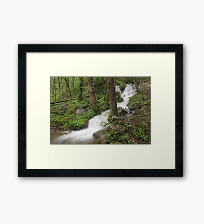Wet Weather Cascades III Framed Print