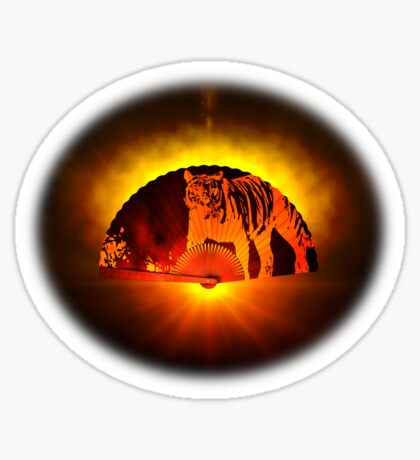 Asian subjects; Motive: Tiger Sticker