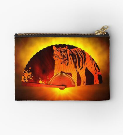 Asian subjects; Motive: Tiger Studio Pouch