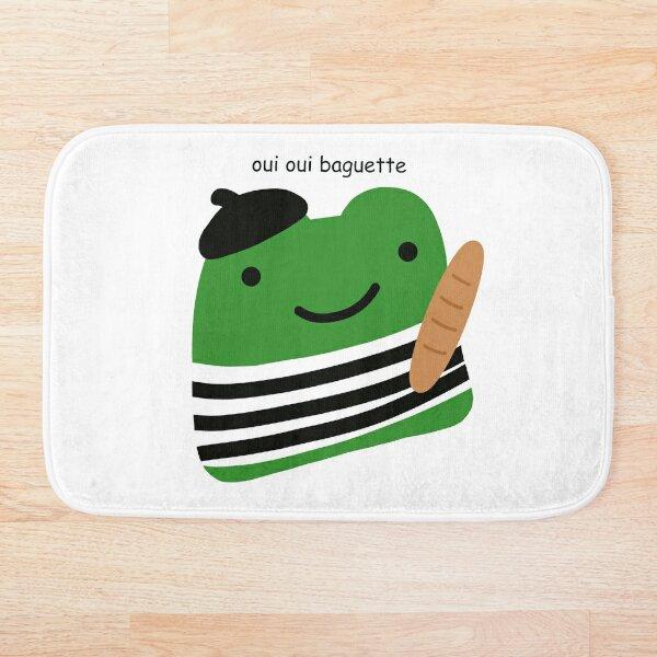 oui oui baguette french frog Bath Mat