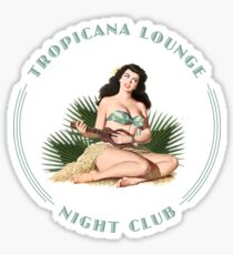 Tropicana Lounge Night Club Tropical Hula Girl 1 Sticker