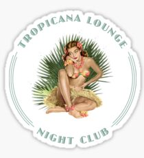 Tropicana Lounge Night Club Tropical Hula Girl 3 Sticker