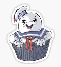 Stay Puft Cupcake Sticker