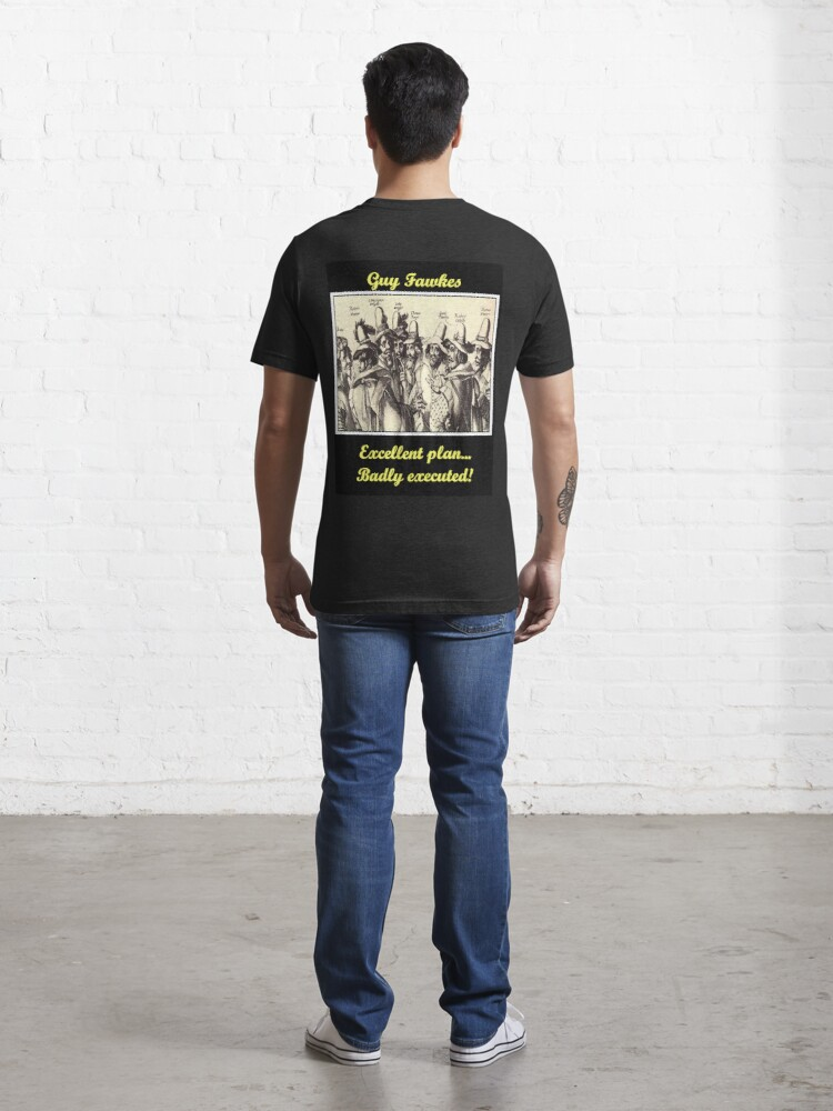 Alternate view of Guy Fawkes Essential T-Shirt