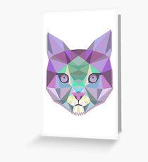 Origami Cat Greeting Card