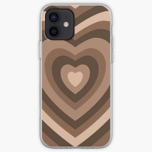 brown aesthetic heart iPhone Soft Case