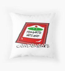 Condoments #1 - Tomato Ketchup Throw Pillow