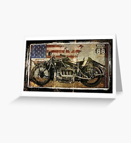 Road Warrior Vintage Motorcycle Unbound Greeting Card