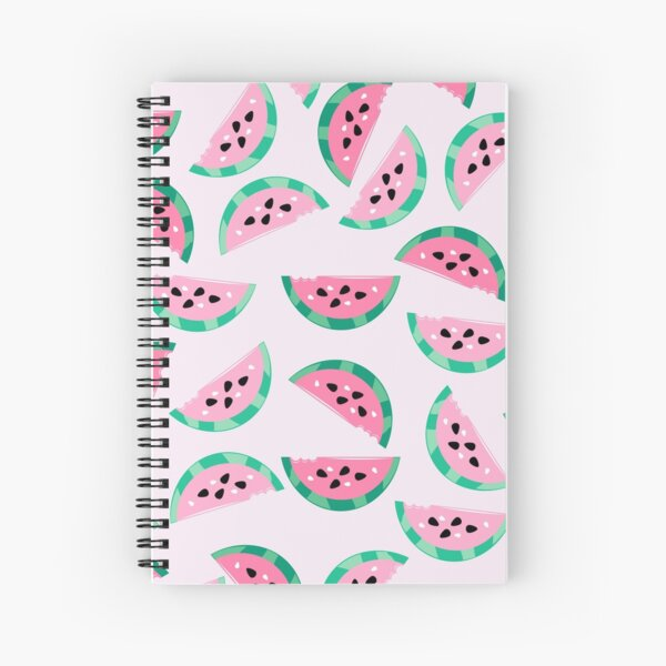 Watermelon Vibrant and Pastel Pattern Spiral Notebook