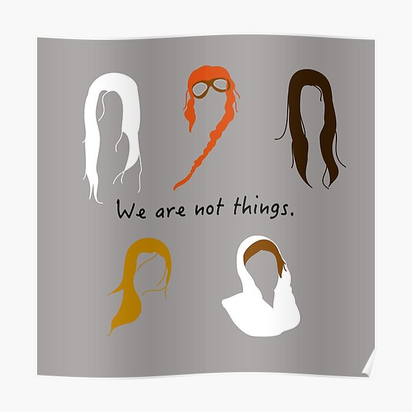 We are not things.  Poster