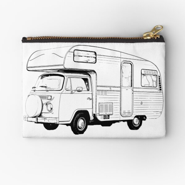 VW Bus HE.art by CC zippered Pouch Be truly glad there is wonderful joy ahead