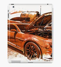New Chevy Camaro and Vintage Airplane  iPad Case/Skin