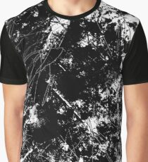 Modern Abstract Black and White Grunge Scratch Texture Graphic T-Shirt