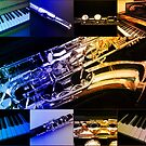Rainbow Piano and Woodwind Collage by MidnightMelody
