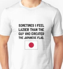 Lazier Japanese Flag Unisex T-Shirt