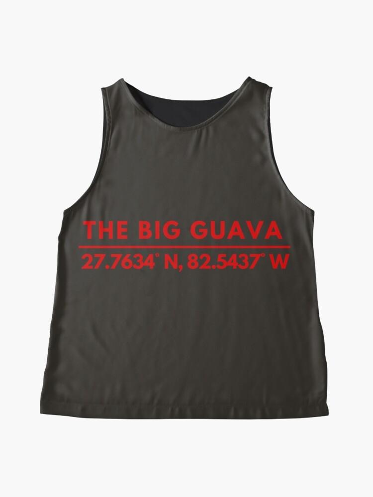 Alternate view of Big Guava Tampa Bay Fan Latitude Longitude Coordinates Sleeveless Top