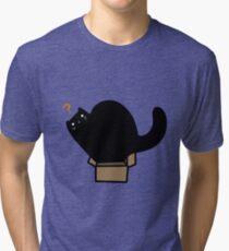 Black Cat Tiny Box Tri-blend T-Shirt