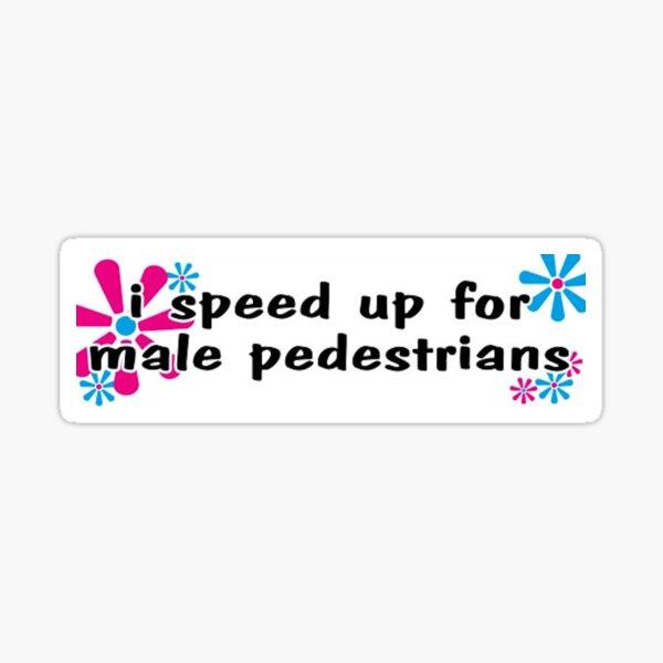 Male Pedestrian Bumper Sticker Sticker