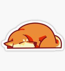 red shiba! Sticker