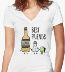 Tequila - Best Friends Women's Fitted V-Neck T-Shirt
