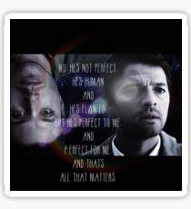 Castiel and Dean Sticker