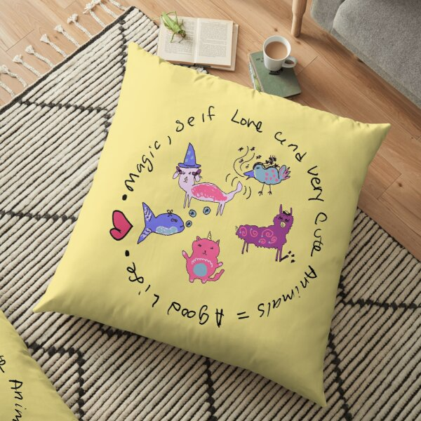 Magic Animals  Floor Pillow