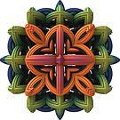 3-D Fractal Emblem by Lyle Hatch