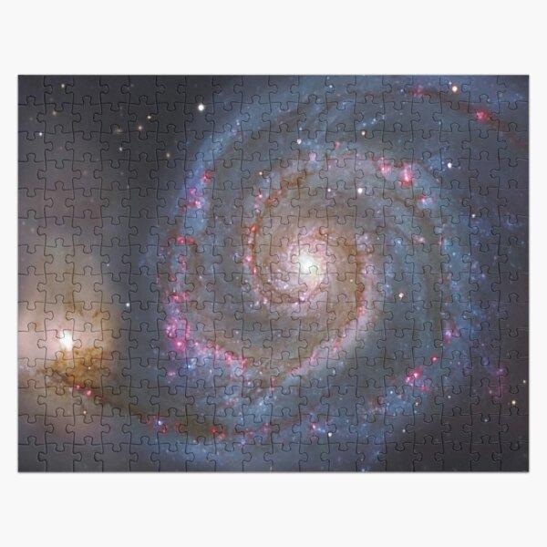 The #Whirlpool #Galaxy #SpiralGalaxy, Astronomy, Cosmology, AstroPhysics, Universe Jigsaw Puzzle