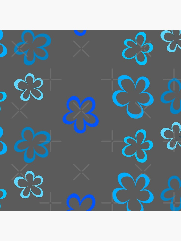 Funky Blue Retro Flowers Sticker Pack by that5280lady