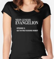 Neon Genesis Evangelion - GET IN THE F*CKING ROBOT t-shirt / Phone case / Mug Women's Fitted Scoop T-Shirt