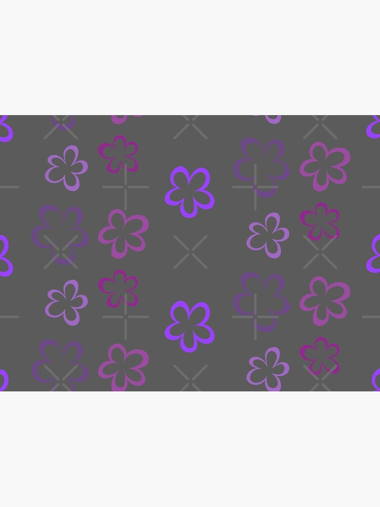 Funky Purple Retro Flowers Sticker Pack by that5280lady