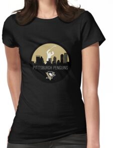 Pittsburgh Penguins Hockey (with skyline) Womens Fitted T-Shirt