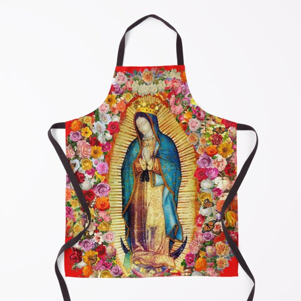 Our Lady of Guadalupe Mexican Virgin Mary Saint Mexico Catholic Mask Apron