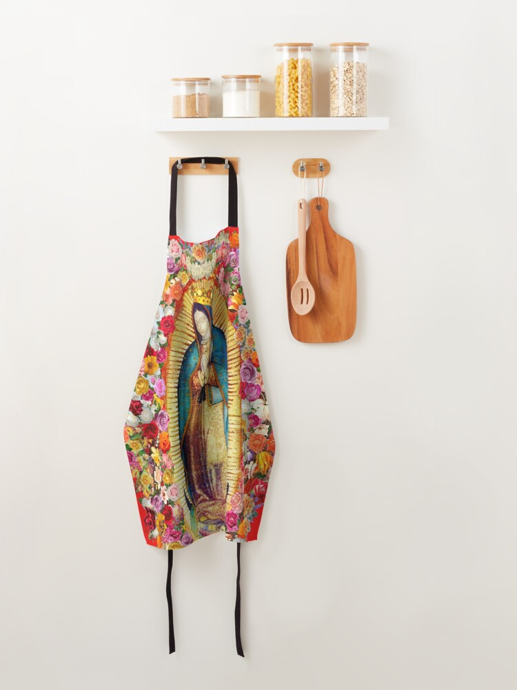 Alternate view of Our Lady of Guadalupe Mexican Virgin Mary Saint Mexico Catholic Mask Apron