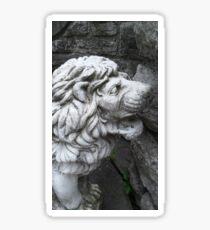 Stone Lion Statue Sticker