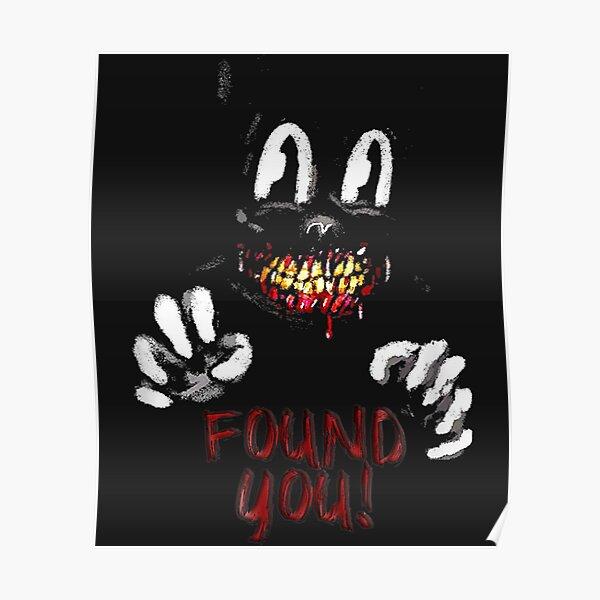 Cartoon cat Creepy Horror trick or treat  Poster