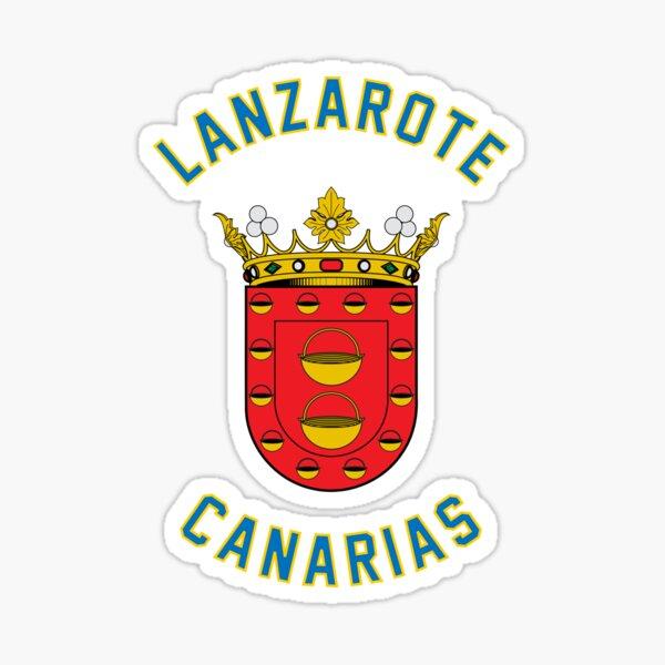 Lanzarote Emblema de las Islas Canarias - Escudo de Islas Canarias Pegatina