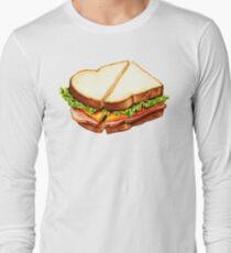 Ham Sandwich Pattern Long Sleeve T-Shirt