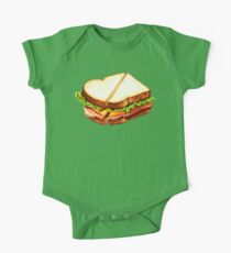 Ham Sandwich Pattern One Piece - Short Sleeve