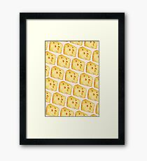 Cheese Pattern - White Framed Print