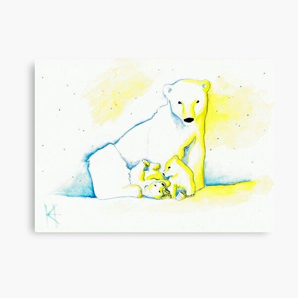 Winter Family Canvas Print