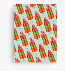 Spicy Bomb Popsicle Pattern Canvas Print
