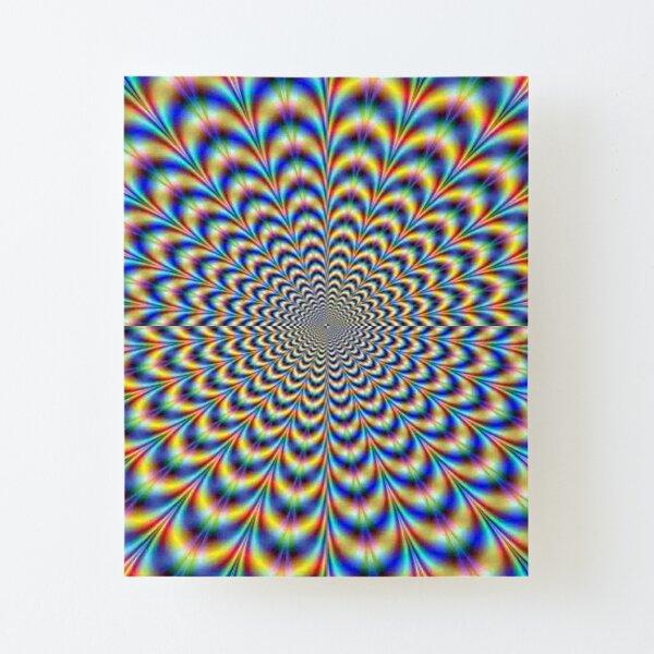 Optical illusion trip, optical art Canvas Mounted Print