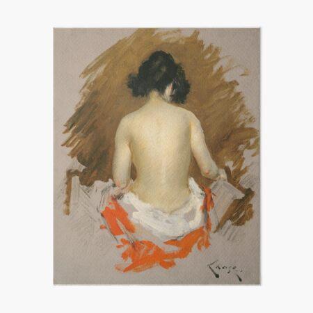 Nude by William Merritt Chase, American, 1901 Art Board Print