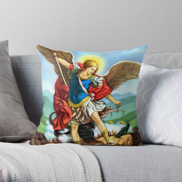 St Michael the Archangel Angel Catholic Saint Throw Pillow